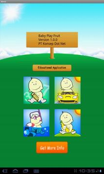 Baby Play Fruit poster