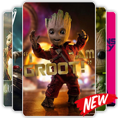 Cute Groot Wallpaper HD Live icon