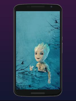 Cute Groot Wallpaper HD Live screenshot 1