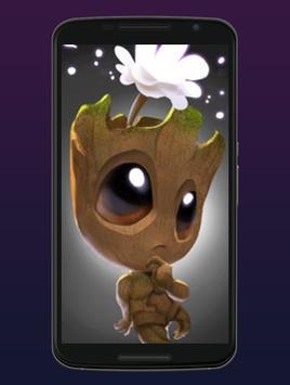 Cute Groot Wallpaper HD Live screenshot 4
