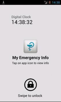 My Emergency Info poster