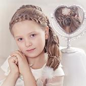 Косички плетение детям icon