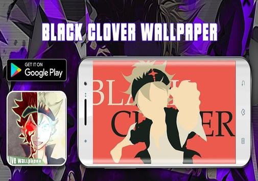 Black Fanart Clover Live Wallpaper ☘️ screenshot 1