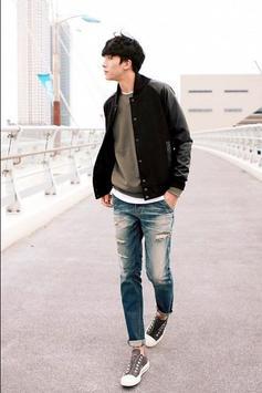 Korean fashion for men poster