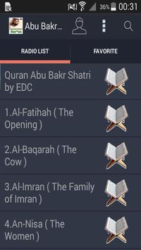 Audio Quran Abu Bakr Al Shatri poster