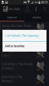 Audio Quran Abu Bakr Al Shatri screenshot 1