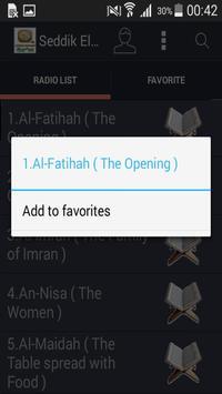 MP3 Quran Seddik El Menchaoui screenshot 1