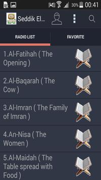 MP3 Quran Seddik El Menchaoui screenshot 2