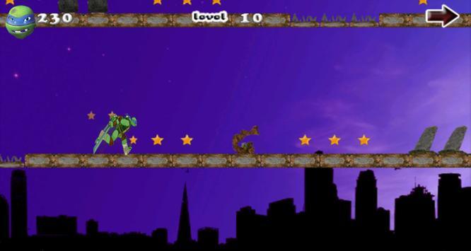 Turtle shadow ninja run apk screenshot
