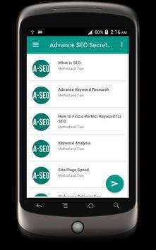 Advance SEO Secret Guide apk screenshot