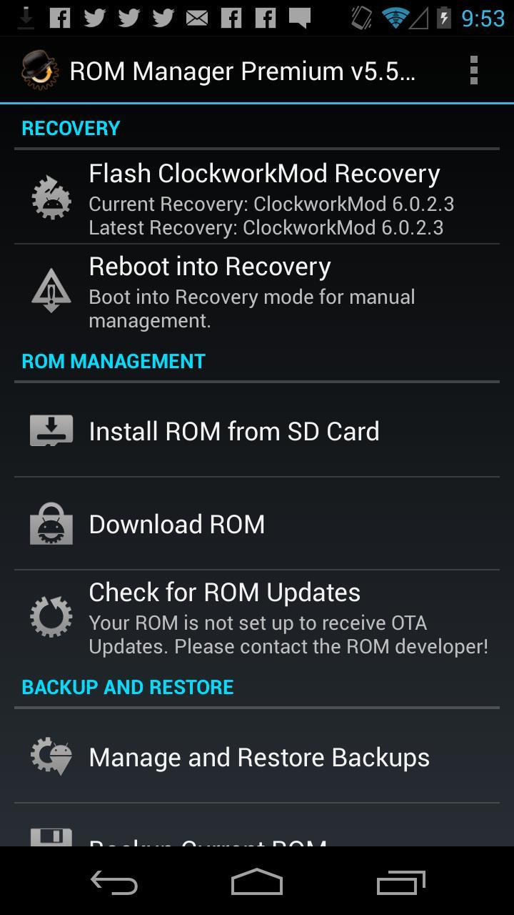 ROM Manager for Android - APK Download