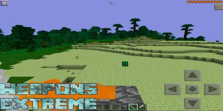 Weapons Extreme Mod MCPE poster
