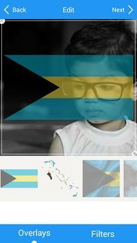 Selfie with Bahamas flag apk screenshot