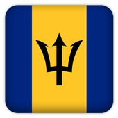 Selfie with Barbados flag icon
