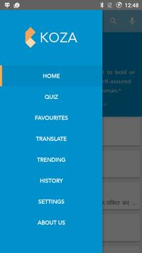 Koza English Hindi Dictionary apk screenshot