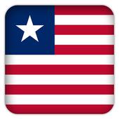 Selfie with Liberia flag icon