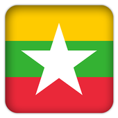 Selfie with Myanmar flag icon