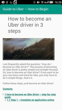 Guide to Uber – How to Begin poster