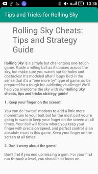 Tips & Tricks for Rolling Sky poster