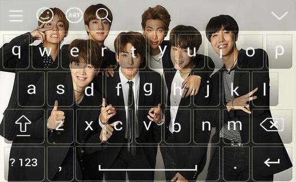 BTS Keyboard Theme ( kpop ) screenshot 3