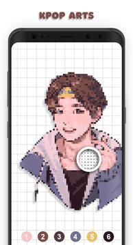 KPOP Coloring Books - BTS, EXO, TWICE Pixel Art Poster