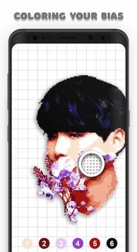 KPOP Coloring Books - BTS, EXO, TWICE Pixel Art captura de pantalla 1