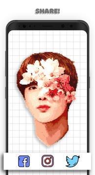 KPOP Coloring Books - BTS, EXO, TWICE Pixel Art captura de pantalla 5