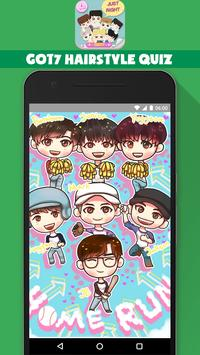 GOT7 Hairstyle Kpop Quiz Game تصوير الشاشة 4