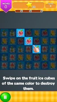 Frozen Fruit Ice Cubes Connect poster