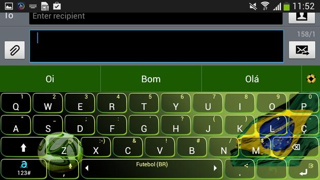 Adaptxt Brazil Football Theme apk screenshot
