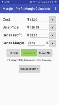 Margie Profit Margin Calc apk screenshot