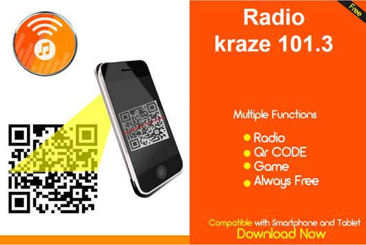 kraze 101.3 hit music radio station online free screenshot 1