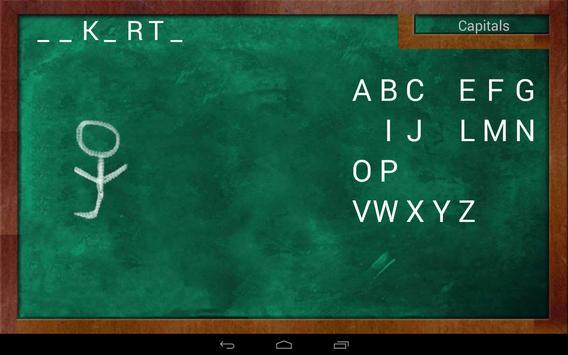 Educational Hangman in English apk screenshot