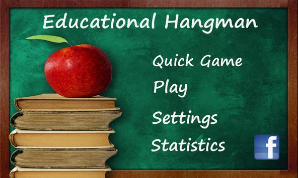 Educational Hangman in English poster