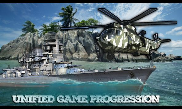 Commando Warship Helicopter 3D poster