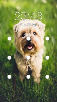 puppy pattern lock screen poster