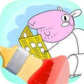 Pig Pappy Mix Coloring & Learn icon