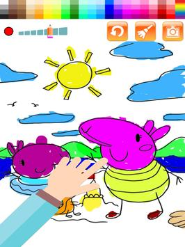 Pig Pappy Mix Coloring & Learn apk screenshot