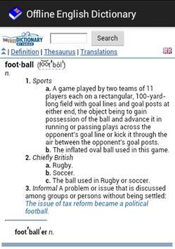 English++ Offline Dictionary apk screenshot