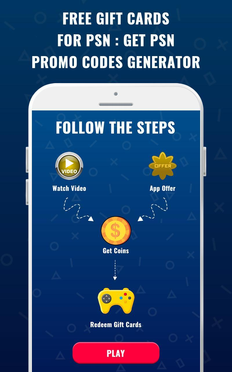 Free Gift Card for PSN : PSN Promo Codes Generator for Android - APK