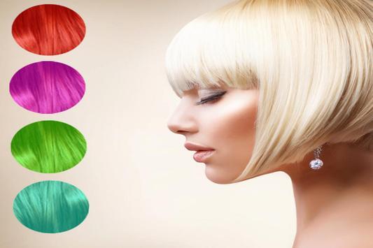 Cheveux Couleur Changeur apk screenshot