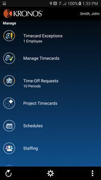 Kronos WFC Mobile for iSeries screenshot 1