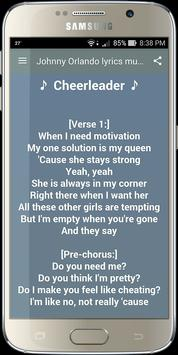 Johnny Orlando Musics Lyrics screenshot 1