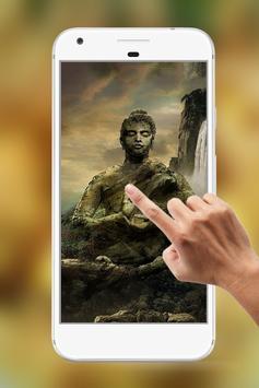 Lord Buddha Water Ripple Live Wallpaper apk screenshot