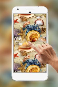 SeaShells Water Ripple Live Wallpaper poster