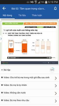 Nuôi Dưỡng Trẻ Nhỏ Elearning screenshot 3