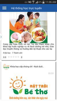 Nuôi Dưỡng Trẻ Nhỏ Elearning screenshot 12