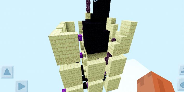 Skyblock Survival Challenge. Map for MCPE poster