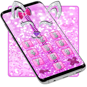 Pink Shiny Kitty Zipper Lock icon