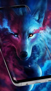 Ice Wolf Live Screen Lock screenshot 1